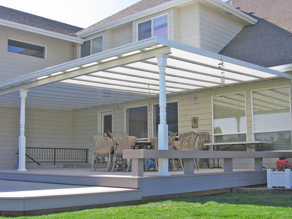 flat pan aluminum patio covers HADKMAE