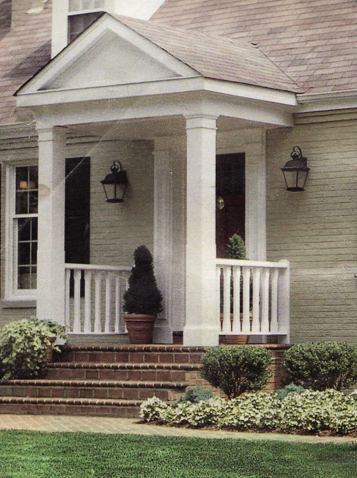 Interesting front porch ideas for Redesign front of house