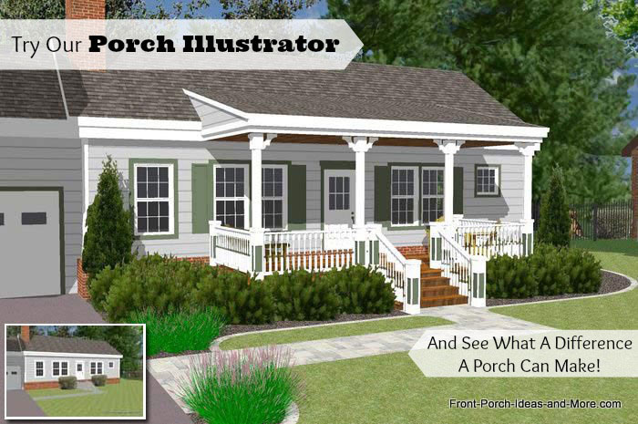 front porch ideas have you tried our porch illustrator? KAJLBPX