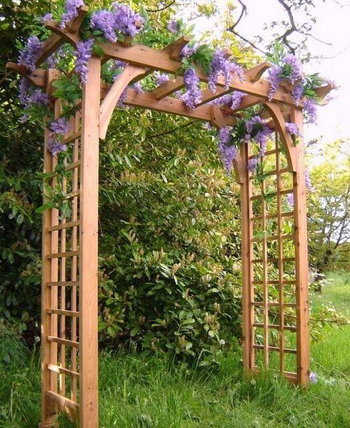 garden arches 21 cool garden archways covered with flowers | shelterness HXKLBAK