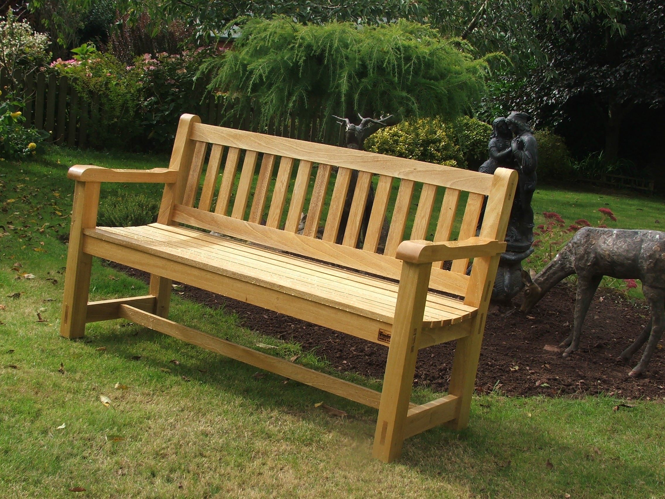 garden benches 5ft hardwood garden bench handmade bampton devon UQYDLSO