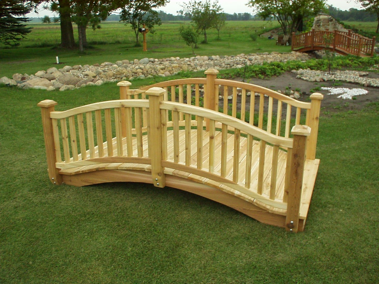 garden bridge how to build wooden bridge | cedar bridge shop. com garden bridges 4-52ft PRTJWJS