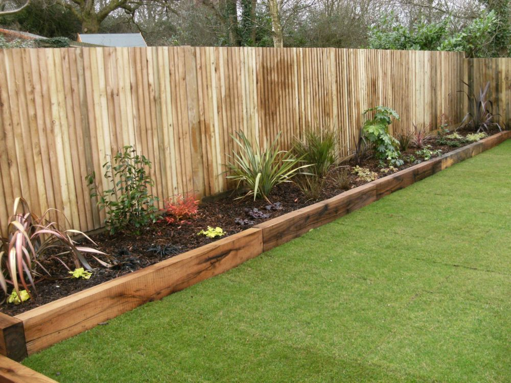 garden edging ideas wooden sleepers garden edging - google search TIAXAXF
