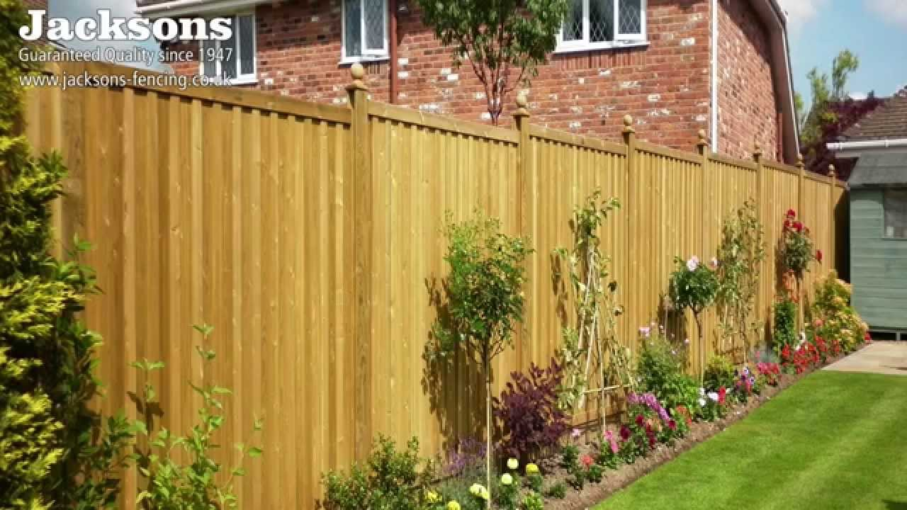 garden fence panels fence panels - youtube KOHFYQD