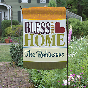 garden flags bless this home personalized garden flag - on sale today! WHICWJV