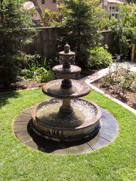 garden fountains outdoor fountain supported with a stone foundation NPDBIUR