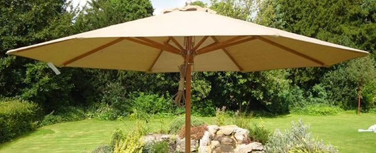 garden parasols setting up some quality cushions can provide you and your guestsu0027  comfortable seating. some wood material RXWJYSK