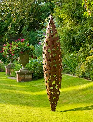 garden sculptures metal garden sculpture in stainless steel, corten steel or verdigris bronze HEOFPYQ