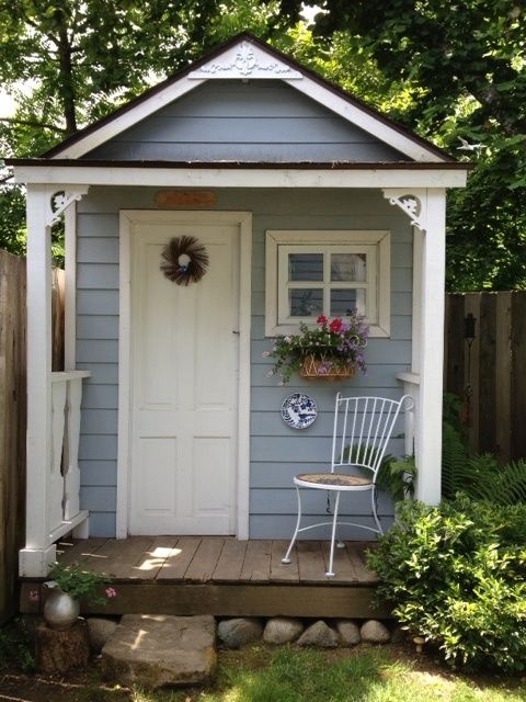 garden sheds 15 stunning garden shed ideas. read the full article on www.thediyhubby.com RPIIWXD