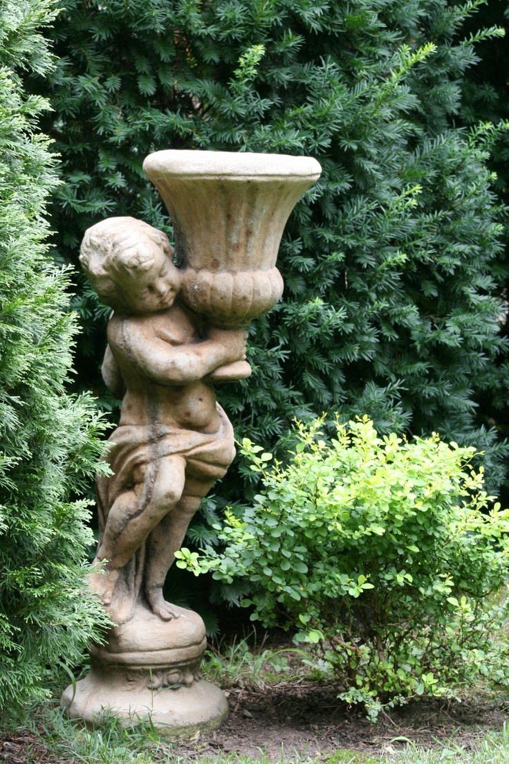 garden statues statues...in the garden, statues holding things, yet, statues rarely SVBSACJ
