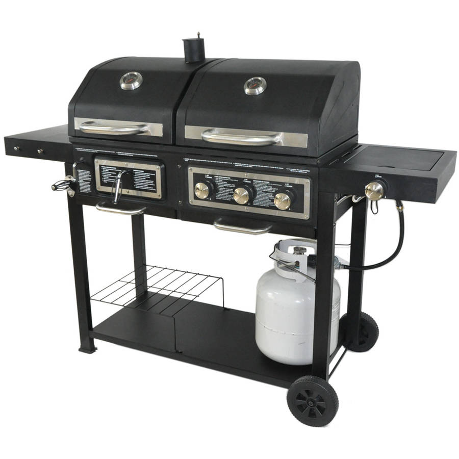 gas grills dual fuel combination charcoal/gas grill image 1 of 4 QRQHPOO