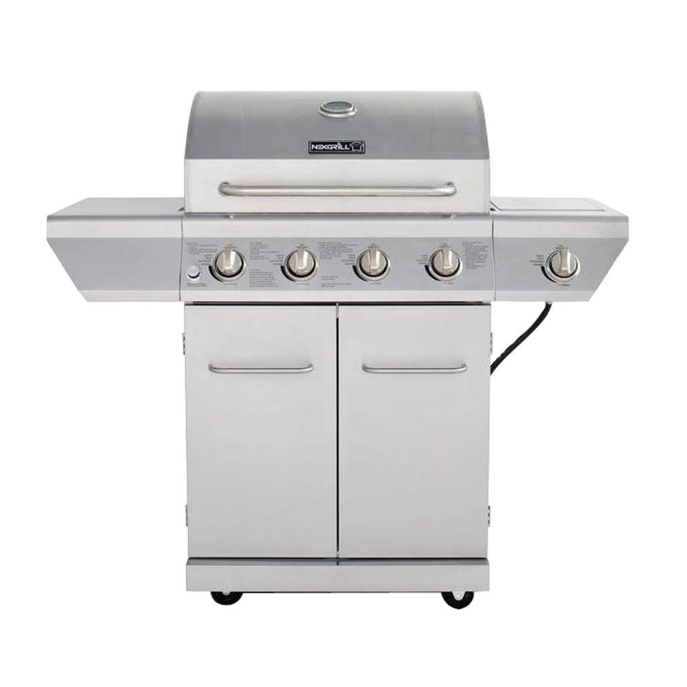 gas grills nexgrill deluxe 6-burner propane gas grill in slate with ceramic searing  side burner-720-0896b - the home CCTQMNM