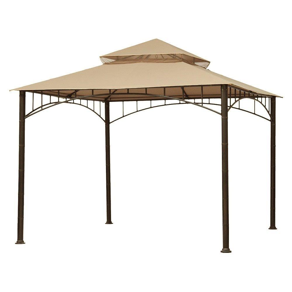 gazebo canopy garden winds replacement canopy for target madaga gazebo, beige SPCKGXO