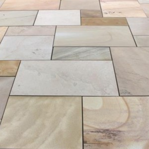 global stone paving-sawn u0026 sandblasted sandstone-u0027artisan serenityu0027-sand  dune blend-paving slabs RBIEKRJ