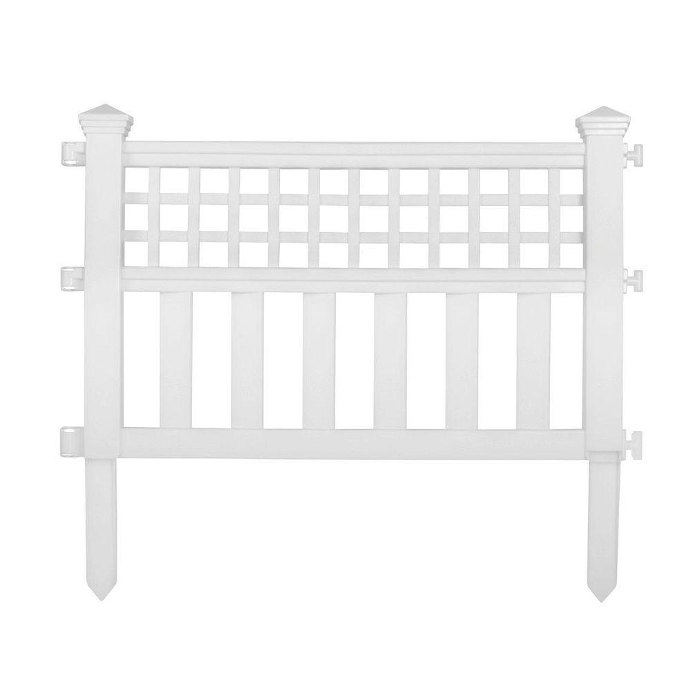 grand view 14 in. resin garden fence VAJFVUB