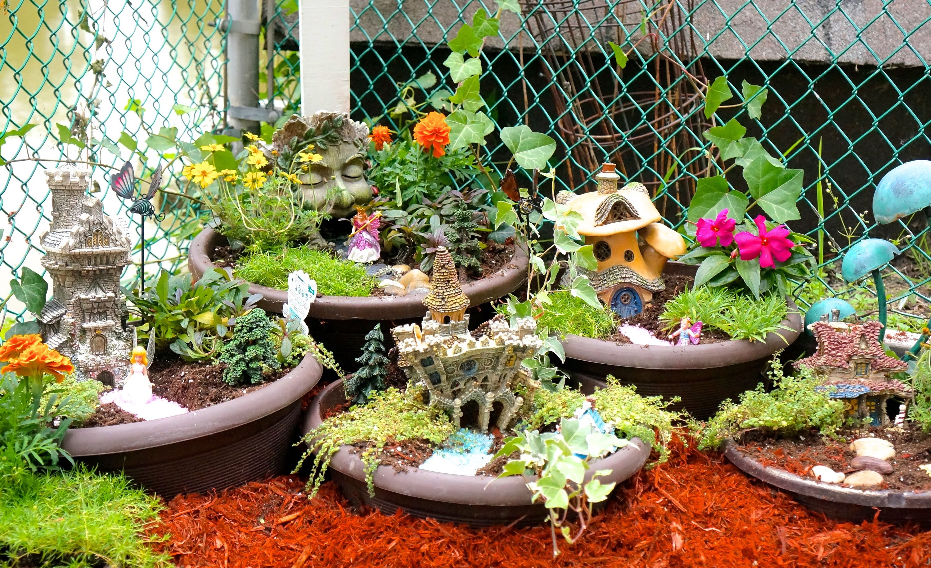 how to make a diy fairy garden - youtube PZFOLAL