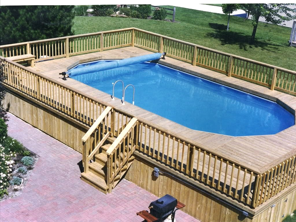 image of: above ground pool deck plans how to build UAVTSQQ