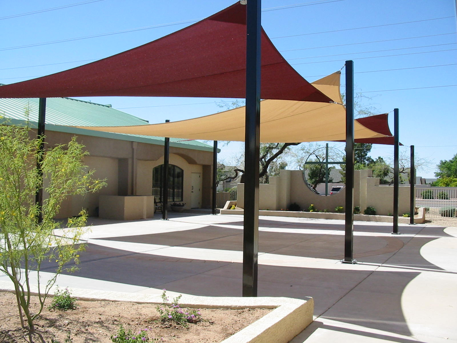 Image Of Sun Shade Sail Residential Patio Wiicqdy