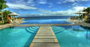 infinity pool in acuatico beach resort, philippines FESNXBH