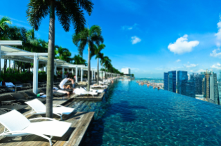 infinity pool slip in for a luxurious soak, bathed in the warmth of the afternoon sun. JYYEGDZ