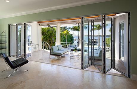 inside view of folding patio doors ENMVIYC