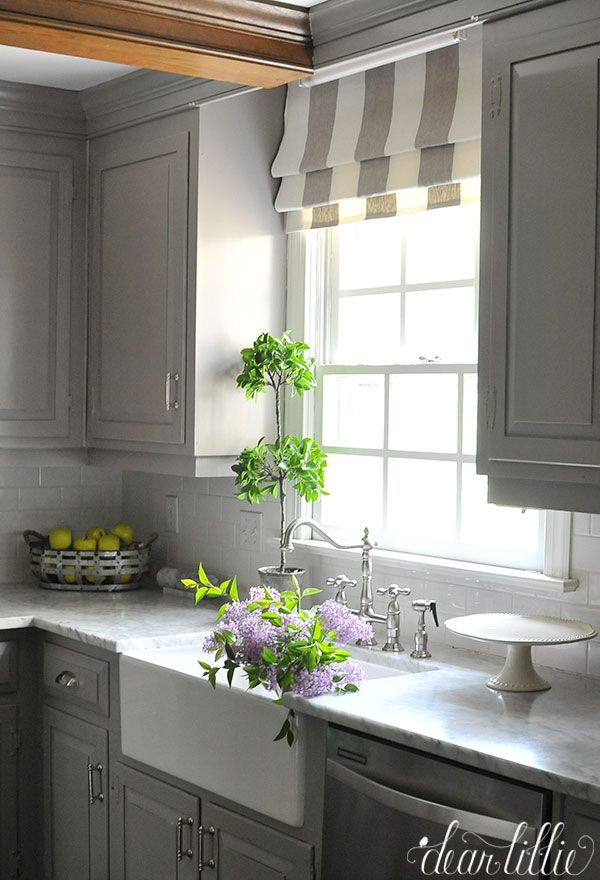 kitchen blinds gray and white more · roman curtainsroman blindskitchen ... PNSLLRR