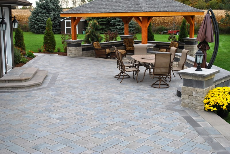 large paver patio, pergola roof paver patio ogs landscape services whitby,  on SVENRRP