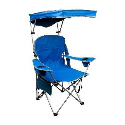lawn chairs royal blue patio folding chair with sun shade GVBZLUB