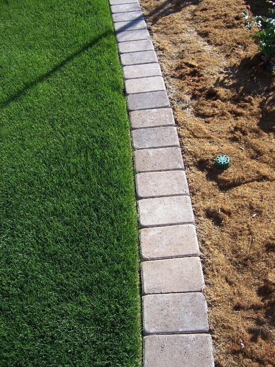 lawn edging mow over flower bed edging - google search MSPGLWY