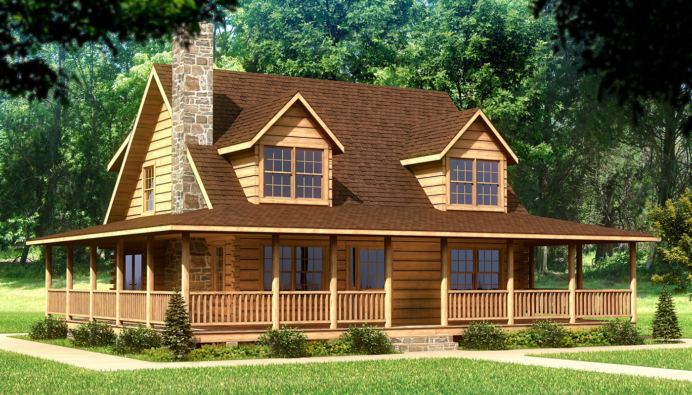 Log Homes Plans for a Natural Living Environment