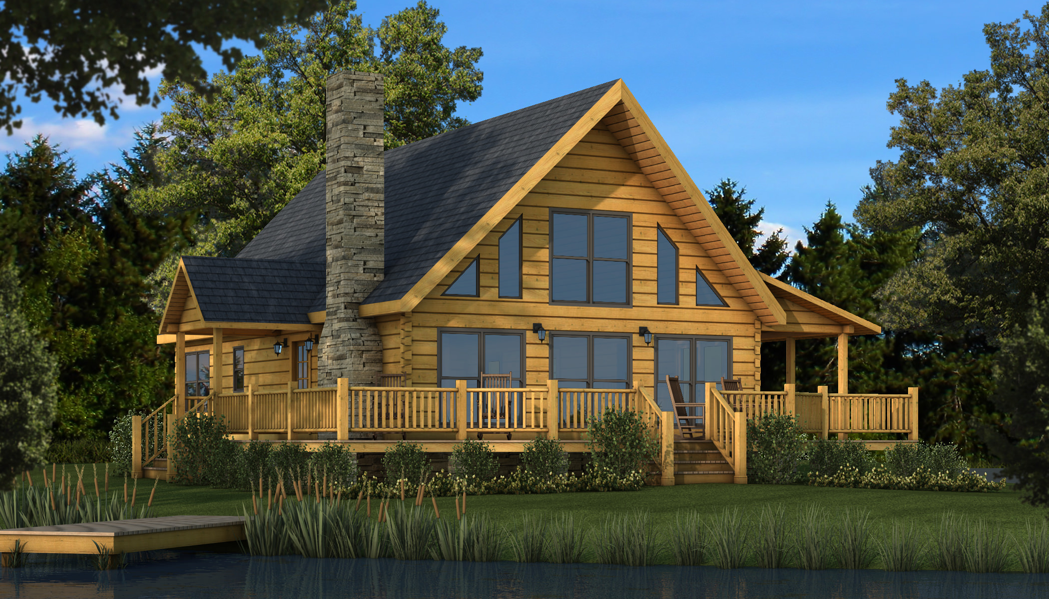 log home plans rockbridge main photo - southland log homes JNXKPTH