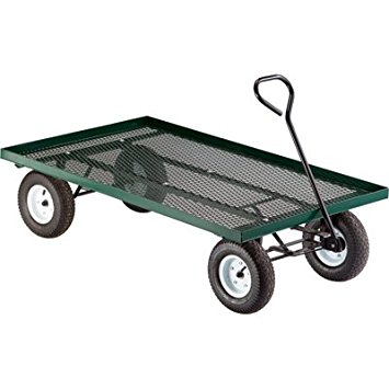 metal deck wagon garden cart - 60in.l x 36in.w, 800- QZCKROH