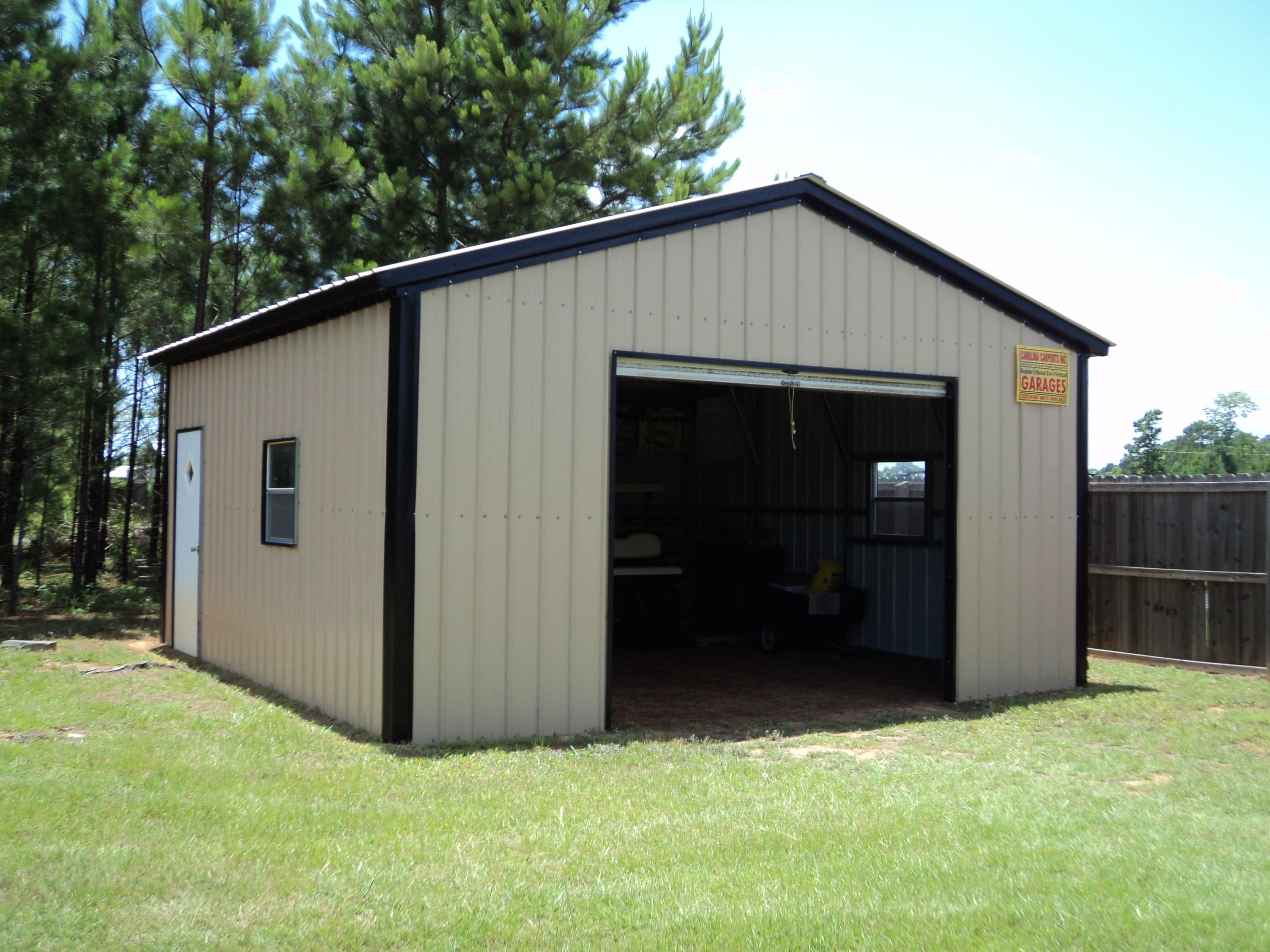 metal garages 18 x 21 x 9 all vertical garage BASSEVH
