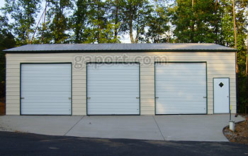 metal garages three roll up garage doors and walk thru door shown on this 30x45x12x16.3  metal WTQJEWA