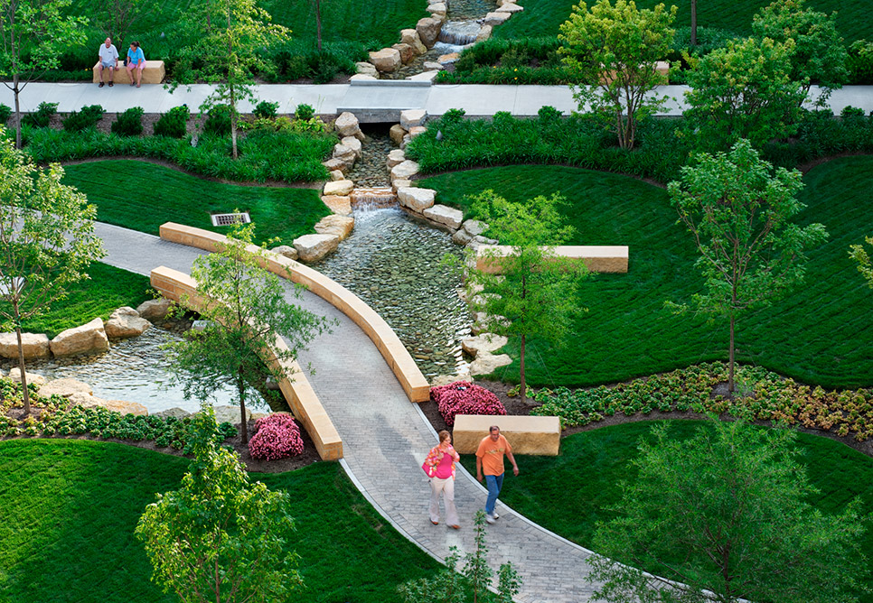 miami valley hospital landscape design KRZJYKD