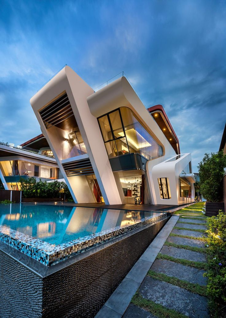 modern house mercurio design lab create a modern villa in singapore MIHJLHZ