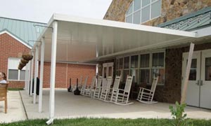 new aluminum awnings are available in any combination of these 22 colors,  15 traditional RYVXRCS