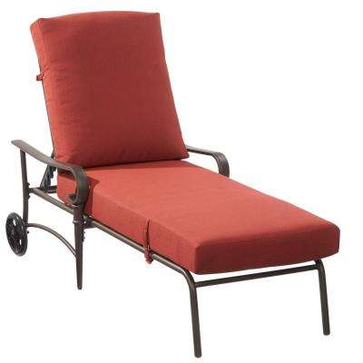 oak cliff metal outdoor chaise lounge ... EZVMANG