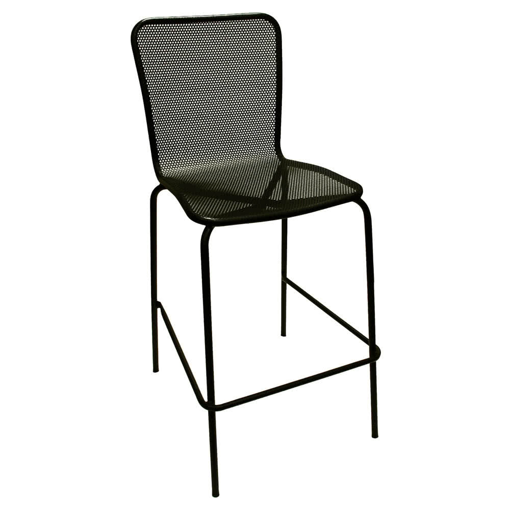 outdoor bar stools american tables and seating 92-bs black mesh outdoor bar stool HPCCTZM