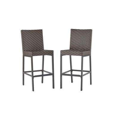 outdoor bar stools rehoboth dark brown wicker outdoor bar stool (2-pack) ZFSYWSR