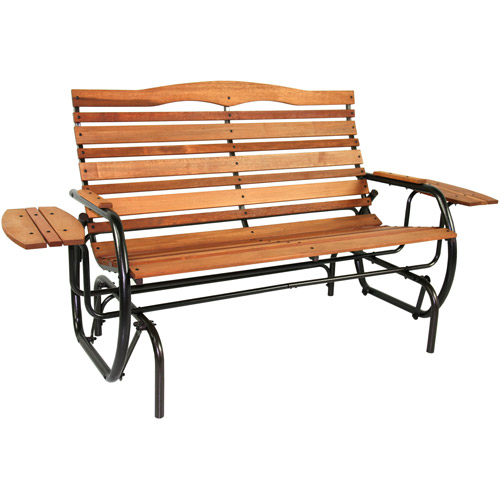 outdoor benches jack post country garden glider bench QMBVOQA