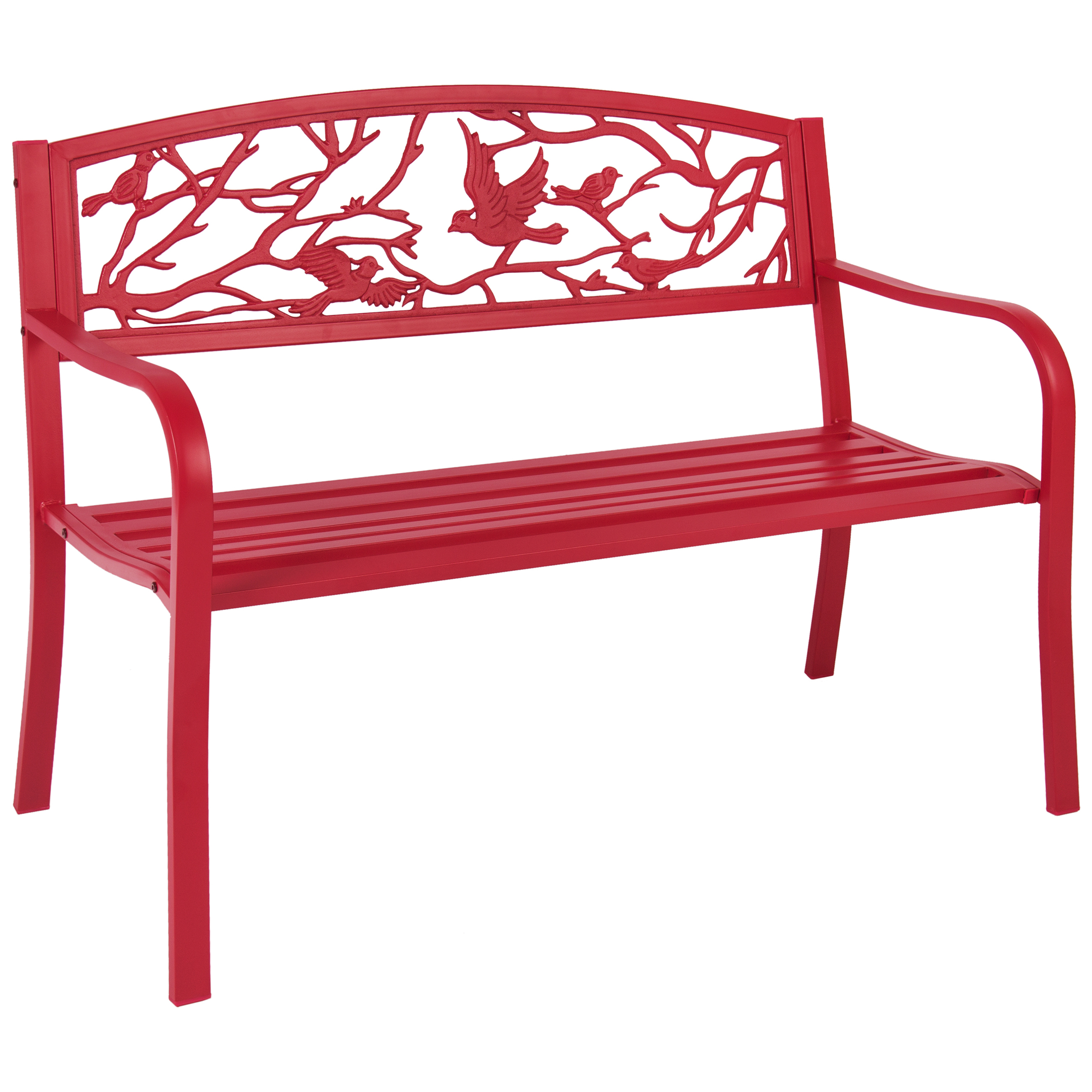 outdoor benches rose red steel patio garden park bench outdoor living patio furniture ZYSAFEA