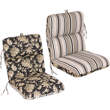 outdoor chair cushions replacement patio chair cushion - fallenton coal/armona jet ENWZUBN