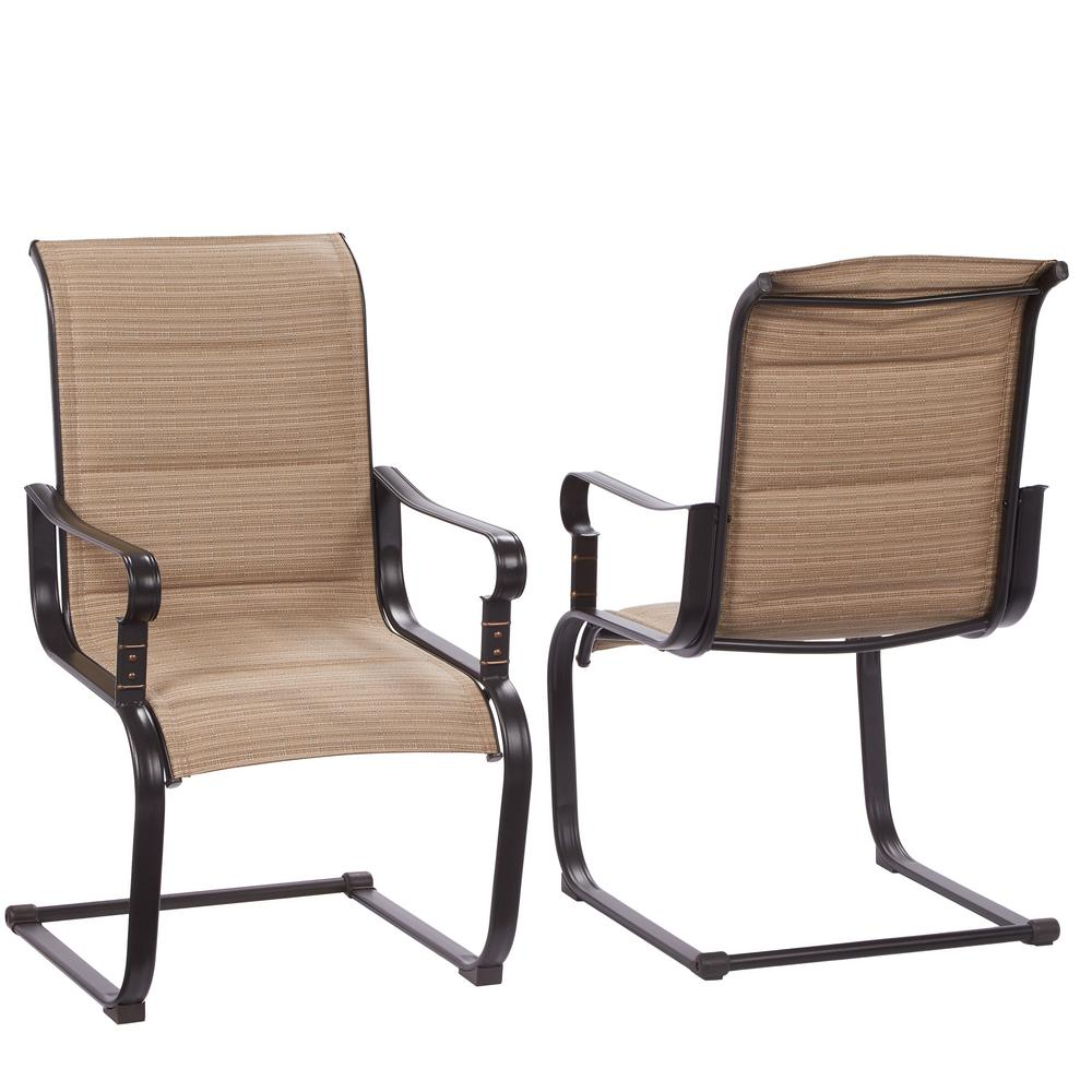 outdoor chairs belleville rocking padded sling outdoor dining chairs ... ATIBIBT