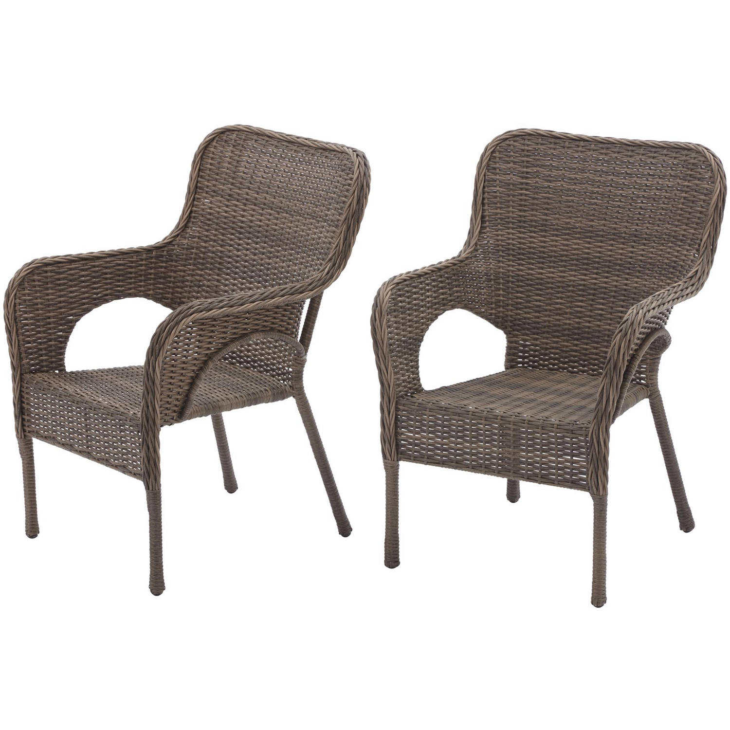 outdoor chairs better homes and gardens camrose farmhouse mix and match stacking wicker  chairs, set of 2 - SWJVGAE