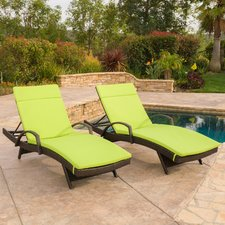 outdoor chaise lounge luther chaise lounge with cushion (set of 2) UMTHOIU