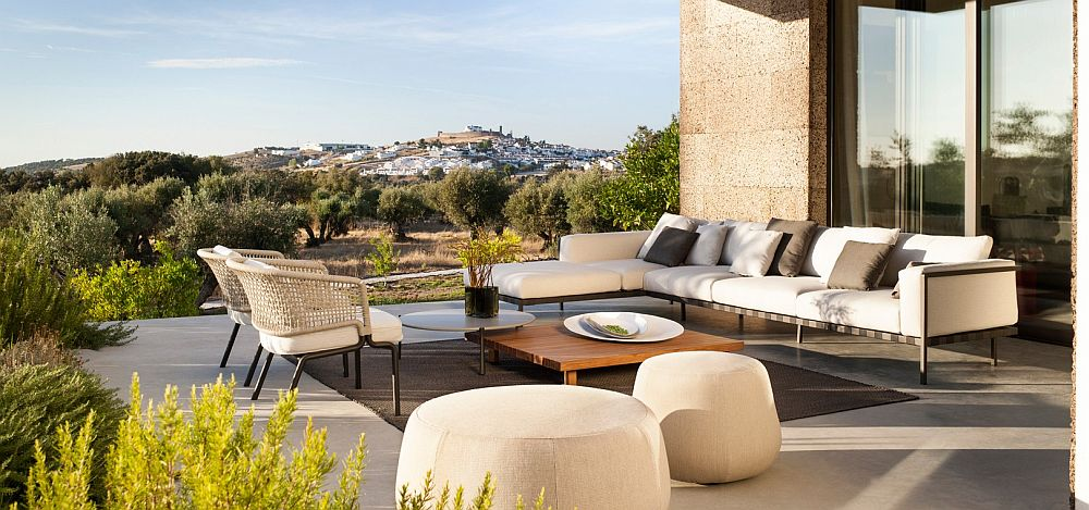 outdoor decor contour: outdoor décor collection fuses effortless form with durable design LBCIWPW