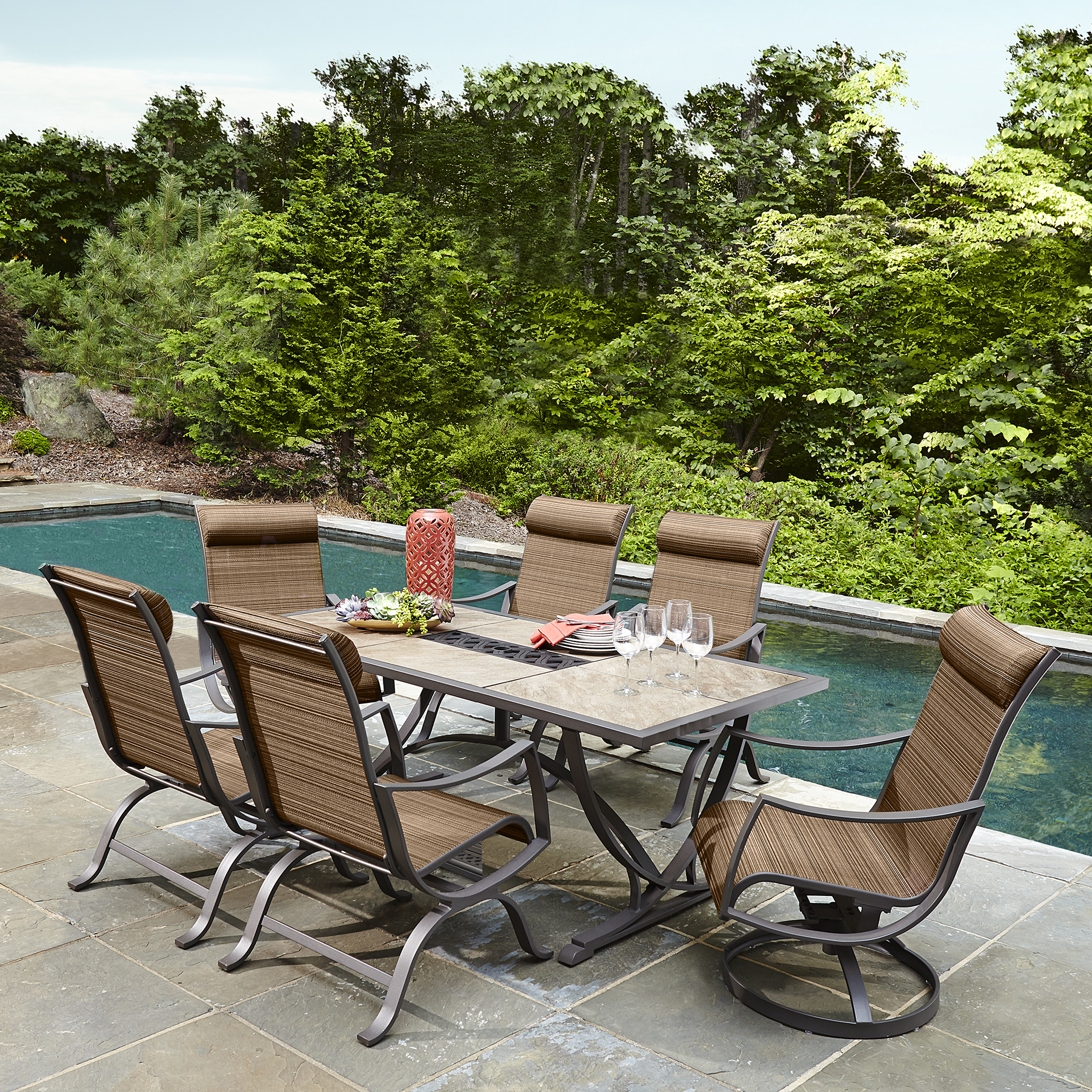 outdoor dining sets ty pennington style palmetto 7 piece patio dining set - sears CBCPZDY