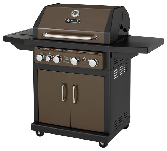 outdoor grill 4-burner gas bbq grill with side burner and electronic pulse ignition  modern-outdoor ZSZYGMT