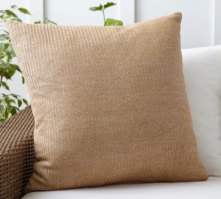 outdoor pillows faux natural fiber indoor/outdoor pillow | pottery barn WTEQTJA